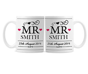 Personalised Wedding Mug Set - tableware