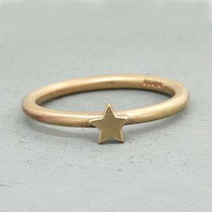 Handmade Solid Gold Star Ring