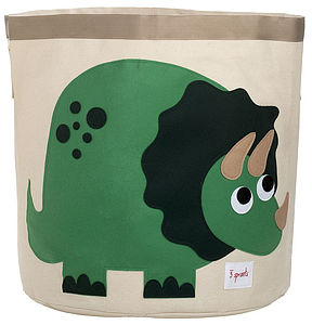Dinosaur Toy Storage Bin - laundry bags & baskets