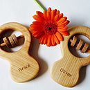 Personalised Organic Classic Rattle