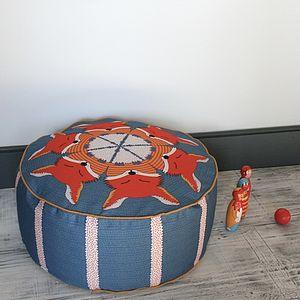 Fox Patterned Pouffe Ottoman/Beanbag - cushions