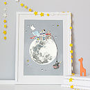 Personalised Picnic On The Moon Print