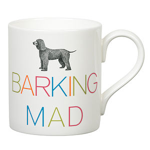 'Barking Mad' Slogan Mug - mugs