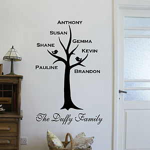 Personalised Family Tree Wall Sticker - prints & art sale