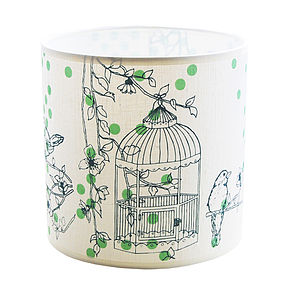 Dotty Bird Side Lampshade - lampshades
