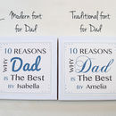 Personalised Best Dad Notes