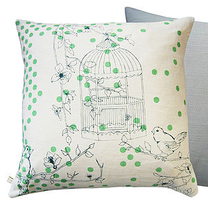 Dotty Bird Cushion - patterned cushions
