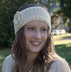 Crochet Flower Headband - hats, scarves & gloves