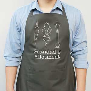 Personalised Allotment Apron - potting shed essentials