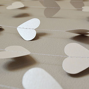 Wedding Shimmer Hearts Paper Garland