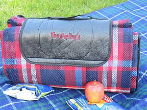 Personalised Large Picnic Blanket - gardening