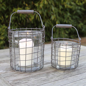 Round Coastal Glass Lanterns - lighting