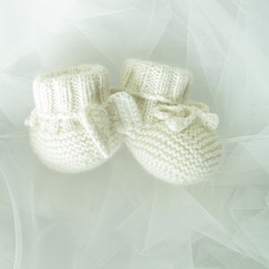 Cashmere Angel Wing Booties Gift Boxed
