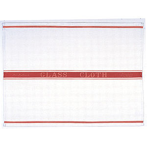 Linen Glass Cloth Red