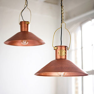 Copper Pendant Light - statement lighting