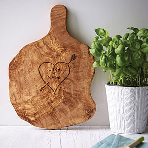 Personalised Tree Carving Chopping Board - personalised engagement gifts
