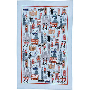 Iconic Britain Linen Tea Towel - kitchen accessories