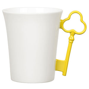 'Yellow' Key Handle Mug - try the trend: yellow and grey