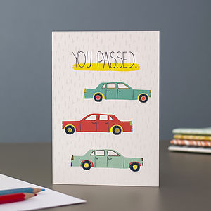 'You Passed' Greetings Card - congratulations cards