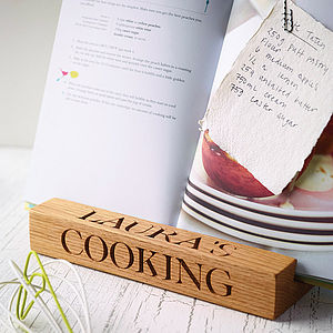 Cookery Book Stand - aspiring chef