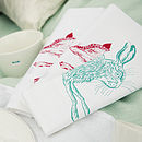 Set Of Two Country Critter Napkins