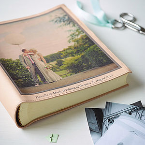 Personalised Leather Vintage Photo Album - albums & guest books