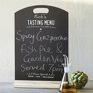Personalised Chalkboard Menu - for foodies