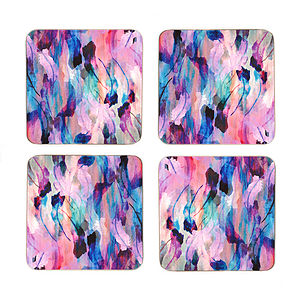 Freedom Feathers Four Piece Coaster Set - spring home styling