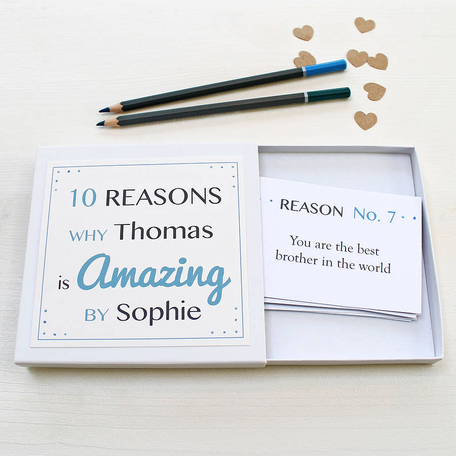 personalised amazing you notes for him by martha brook
