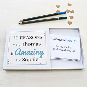 Personalised Amazing You Notes For Him - for him