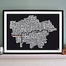Personalised London Rugby Union Print