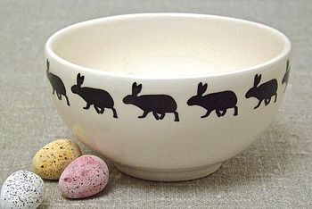 Handmade Small Rabbit Bowl