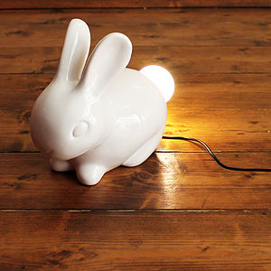 Bunny Lamp - easter home