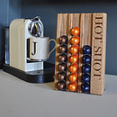 Personalised Oak Coffee Pod Rack