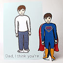 Personalised Super Dad Dress Up Doll Card