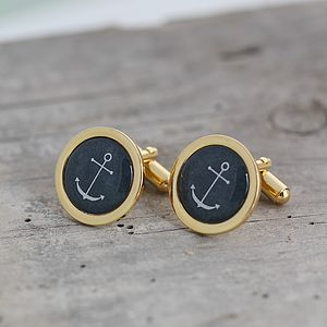 Nautical Anchor Cufflinks - men's jewellery