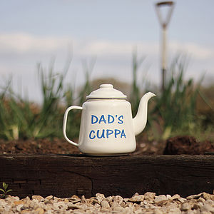 Personalised Enamel Teapot - gifts for grandparents