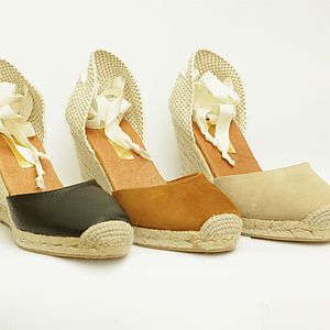 Ankle Tie Wedge Espadrille - women's fashion