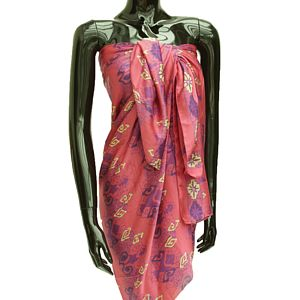 Silk Sarongs In A Choice Of Three Colours