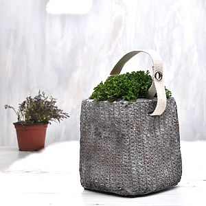 Concrete Planter Bag - storage & planters