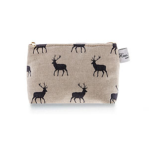 Stag Grey Classic Cosmetic Bag - make-up bags
