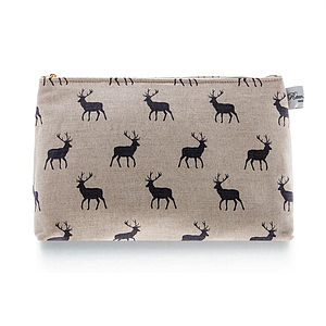 Stag Grey Classic Wash Bag - wash & toiletry bags