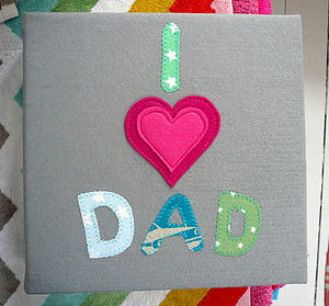 Hand Made 'I Love Dad' Photo Album - albums & guest books