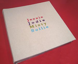 Cream Felt Embroidered Family Album - photo albums