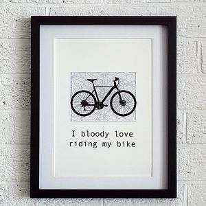 'Bloody Bike Print' - art & pictures