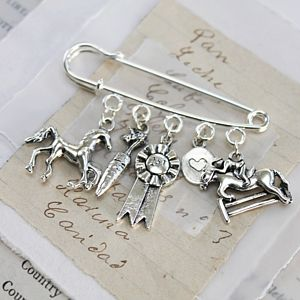 Horse Lovers Brooch - pins & brooches