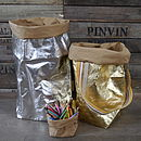 Large Metallic Storage Bag