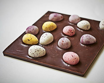 duffy's star of peru milk chocolate with sugar coated mini chocolate eggs