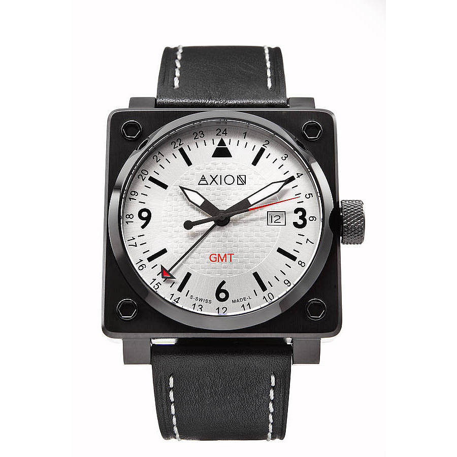 s square swiss by axion swiss dual time watches
