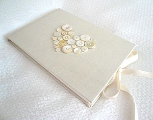 Calico and Mother of Pearl Guest Book